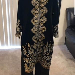 Partywear valvet dress